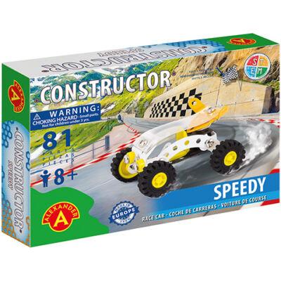 Speedy versenyautó fém építőjáték 81 db-os