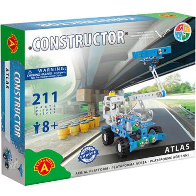 Atlas emelőkosaras autó fém építőjáték 211 db-os