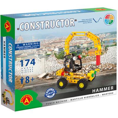 Hammer légkalapács munkagép fém építőjáték 178 db-os