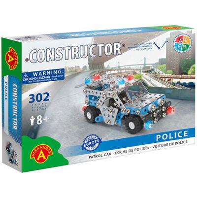 Rendőrautó fém építőjáték 302 db-os