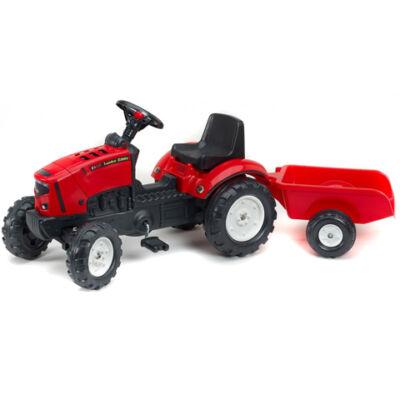 Lander Z160X piros traktor utánfutóval - FALK