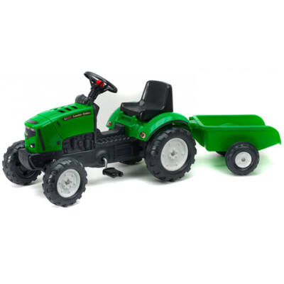 Lander Z160X zöld traktor utánfutóval - FALK