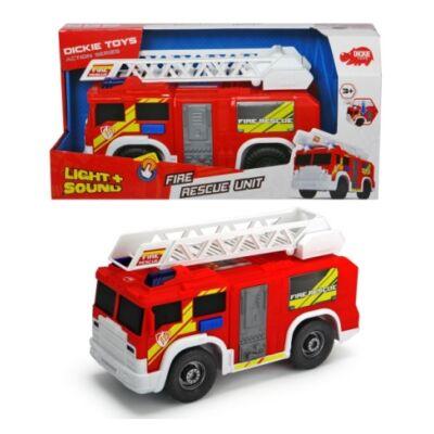 Létrás tűzoltóautó fénnyel és hanggal 30cm-es - Dickie Toys