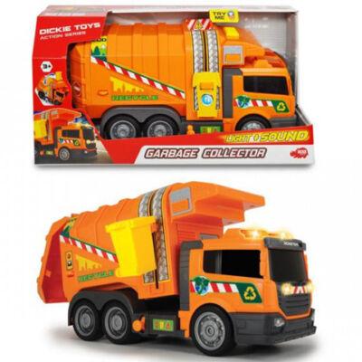 Narancssárga kukásautó 39 cm-es fénnyel és hanggal – Dickie Toys