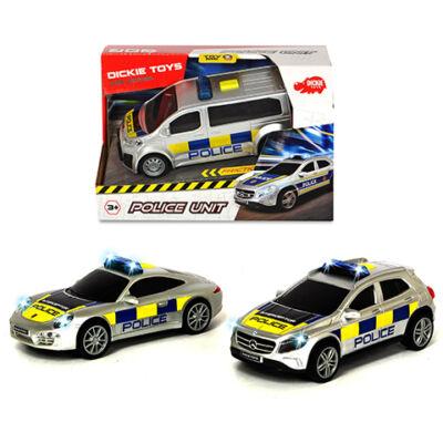 Nemzetközi rendőrautó fénnyel és hanggal háromféle változatban – Dickie Toys