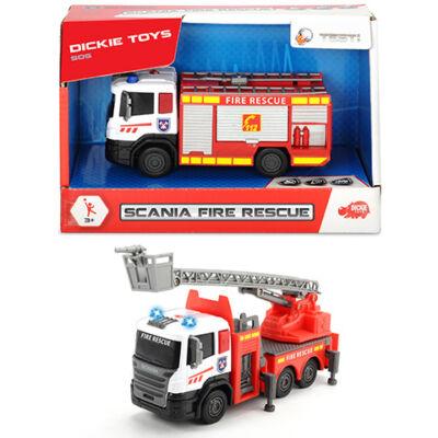 Scania tűzoltóautó fénnyel és hanggal kétféle változatban – Dickie Toys