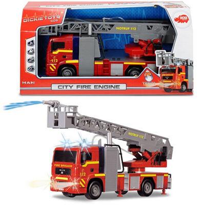 City Fire Engine MAN tűzoltóautó fénnyel és hanggal 31cm - Dickie Toys