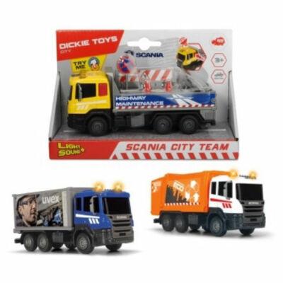 Scania városi teherautók többféle változatban fénnyel 1 db – Dickie Toys