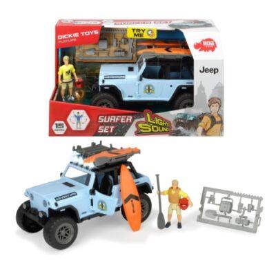 Jeep Wrangler szörf szett fénnyel és hanggal – Dickie Toys