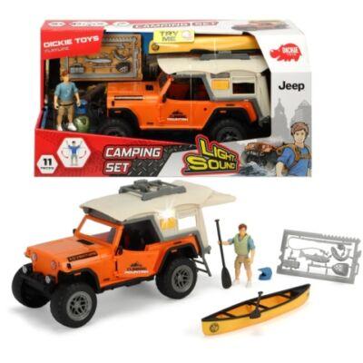 Jeep Wrangler terepjáró kemping szett fénnyel és hanggal – Dickie Toys