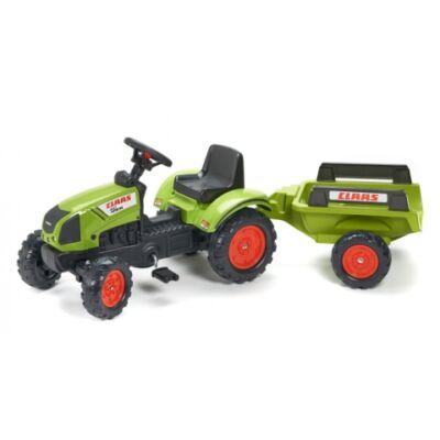 Claas Arion 410 lábbal hajtós traktor utánfutóval - FALK