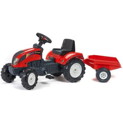 Ranch Trac piros traktor utánfutóval - FALK