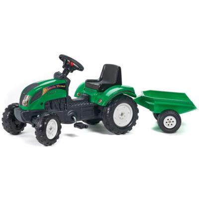 Ranch Trac zöld traktor utánfutóval - FALK
