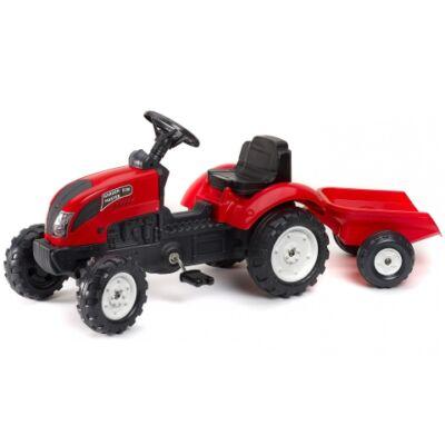 Garden Master 620i lábbal hajtós traktor piros színben - FALK