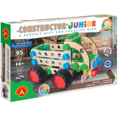 Junior 3 az 1-ben teherautó fa építőjáték 95 db-os