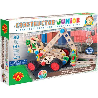 Junior 3 az 1-ben targonca fa építőjáték 88 db-os