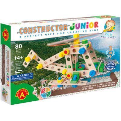 Junior 3 az 1-ben helikopter fa építőjáték 91 db-os