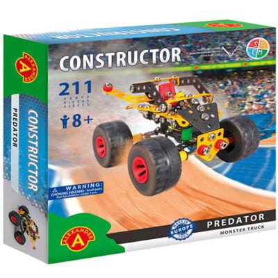 Predator monster truck fém építőjáték 211 db-os