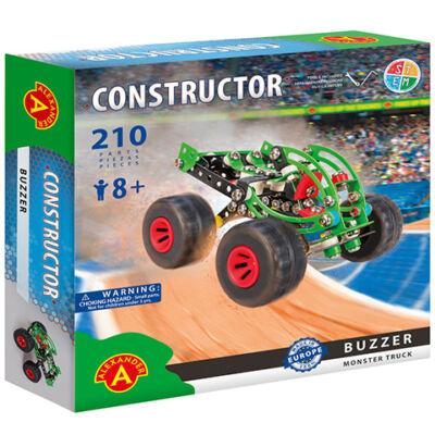 Buzzer monster truck fém építőjáték 210 db-os