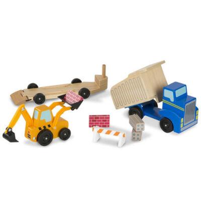 Munkagépek fa jármű készlet – Melissa & Doug