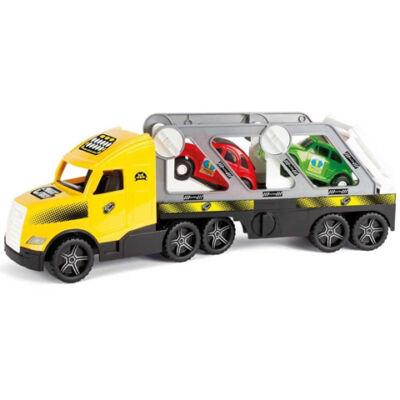 Magic Truck: Autószállító kamion fluoreszkáló lámpákkal 81 cm – Wader