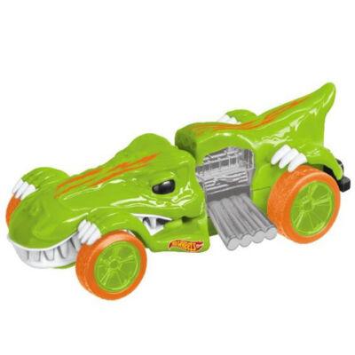 Hot Wheels – Mighty Speeders: T-Rextroyes hátrahúzós kisautó 13 cm