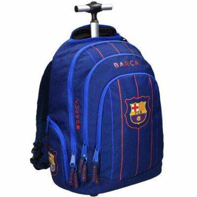 FC Barcelona kék csíkos gurulós iskolatáska 35×47×22 cm