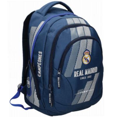 Real Madrid háromrekeszes lekerekített iskolatáska, hátizsák
