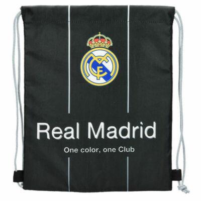 Real Madrid fekete tornazsák, sportzsák 26×32 cm