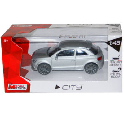 City Collection: Audi A1 szürke kisautó 1/43 – Mondo