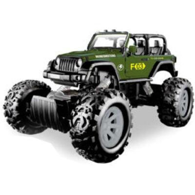 Stunt Truck zöld hátrahúzós kisautó 1/43 – Mondo Motors