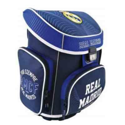 Real Madrid ergonomikus iskolatáska, hátizsák kék-fehér