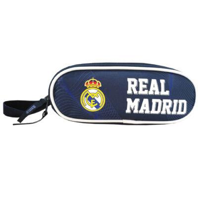Real Madrid ovális kék-fehér tolltartó