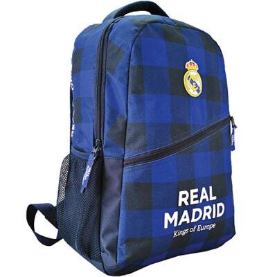 Real Madrid kockás iskolatáska hátizsák