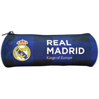 Real Madrid hengeres kockás tolltartó