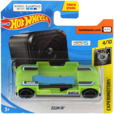 Hot Wheels: Zoom In 1/64 zöld kisautó – Mattel