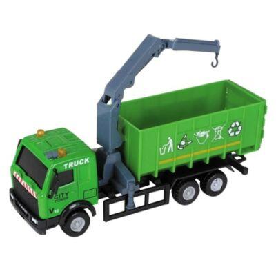 City Truck: Szelektív hulladékgyűjtő teherautó modell 1/64 – Mondo Motors