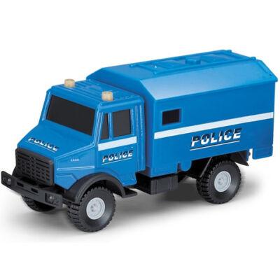 Rendőrségi furgon kék színben 1/64 - Mondo Motors