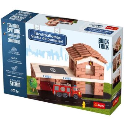 Brick Trick Téglából építünk: Tűzoltóállomás építőjáték – Trefl