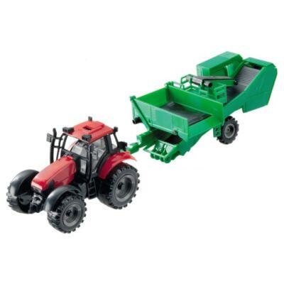 Traktor cukorrépa betakarító pótkocsival 1/27 – Mondo