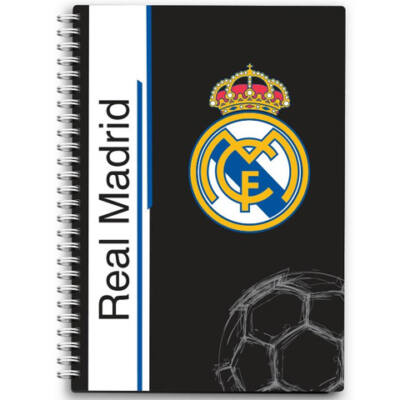 Real Madrid spirálos notesz A6