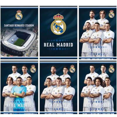 Real Madrid 54 lapos sima füzet A/4