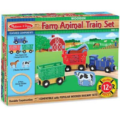 Fa állatszállító vonat 8 db-os sínnel – Melissa & Doug