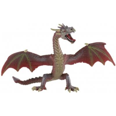 Vörös-barna sárkány játékfigura – Bullyland