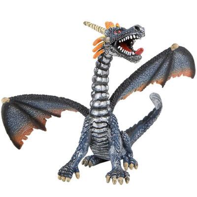 Ezüst ülő sárkány játékfigura – Bullyland