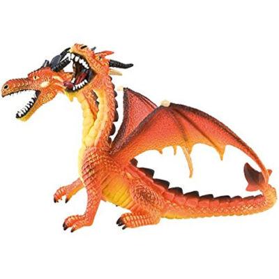 Dupla fejű narancssárga sárkány játékfigura – Bullyland