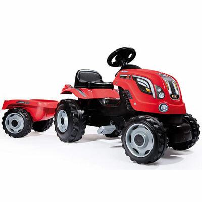 Smoby: Farmer XL traktor utánfutóval piros színben