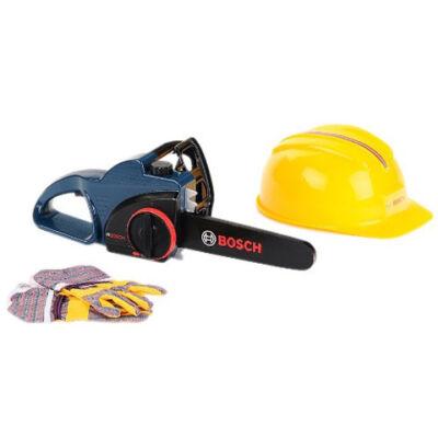 Bosch kék színű láncfűrész védőfelszereléssel – Klein Toys