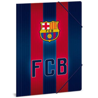 Barcelona sávos-címeres gumis dosszié A/4