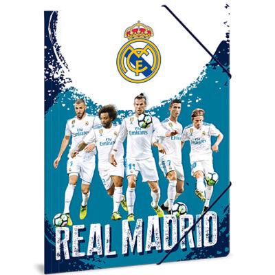 Real Madrid kék gumis dosszié jatékosokkal A/4